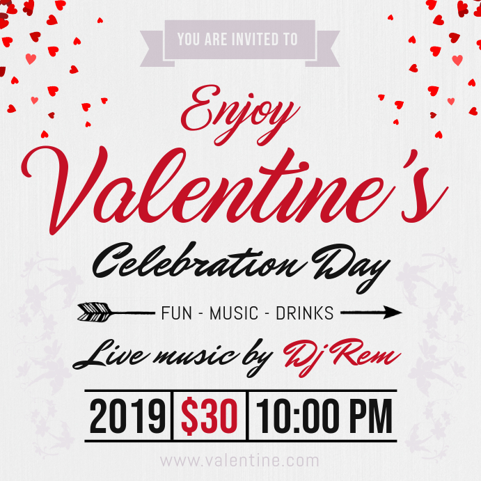 Valentines Celebration Party Instagram Post Template