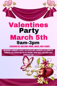 Valentines Children Party Template