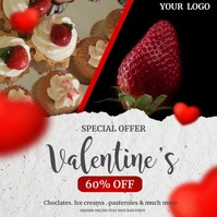 bakery, valentines chocolates Instagram-opslag template