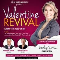 Valentines Church Flyer Template Square (1:1)