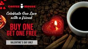 Valentines Coffee Cafe Sale Digital Display Template