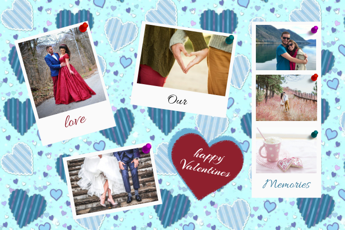 Valentines Collage Poster Template