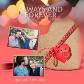 valentines collage romantic Instagram Video Square (1:1) template