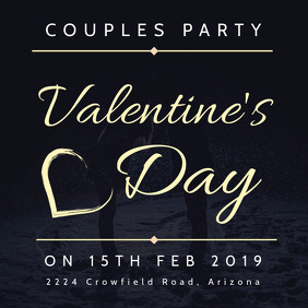 Valentines Couple Party Instagram Post Template