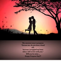 Valentines day, PROPOSAL day Message Instagram template