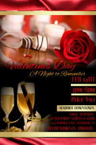 Valentines Day A Night To Remember Flyer