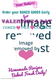 Valentines Day Bake Sale Poster Template