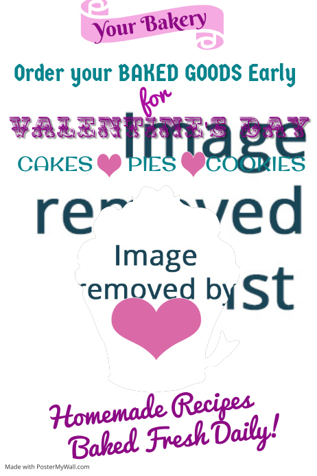 Valentines Day Bake Sale Poster Template Postermywall