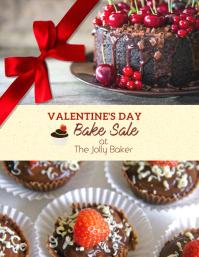 Valentines Day Bake Sale Special Flyer