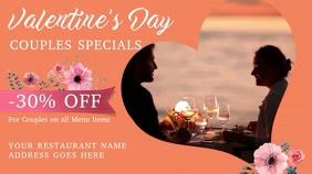 Valentines Day Cafe Deal Video Template Pantalla Digital (16:9)