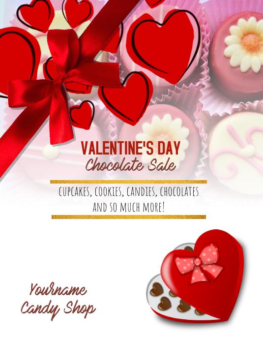 Permen Coklat Selebaran Hari Kasih Sayang Templat Postermywall