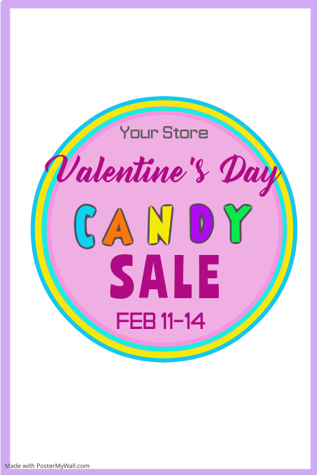 Valentines Day Candy Sale Poster Template