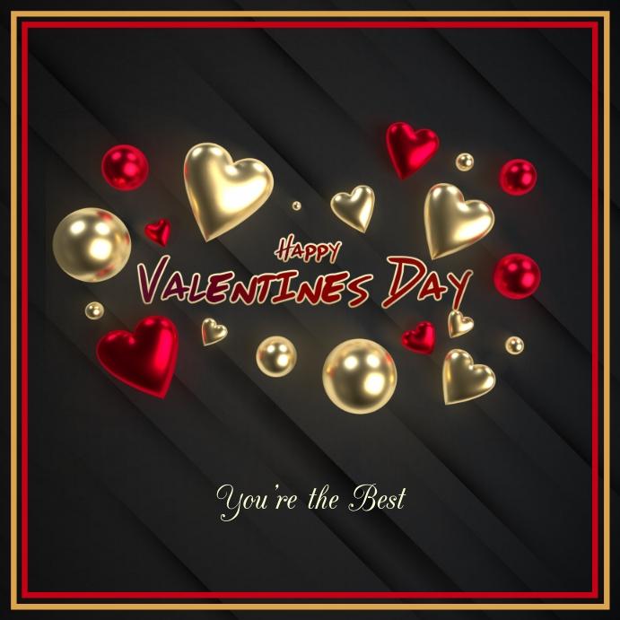 VALENTINES DAY CARD Instagram-opslag template