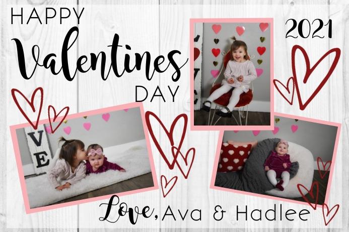 Valentines Day Card Etichetta template