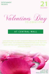 Valentines Day Celebration Party Flyer Template