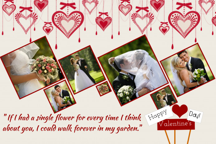 Valentines Day Collage Template