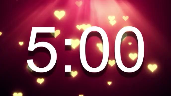 valentines day countdown Pantalla Digital (16:9) template