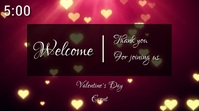 valentines day countdown Tampilan Digital (16:9) template