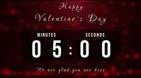 valentines day countdown งานแสดงผลงานแบบดิจิทัล (16:9) template