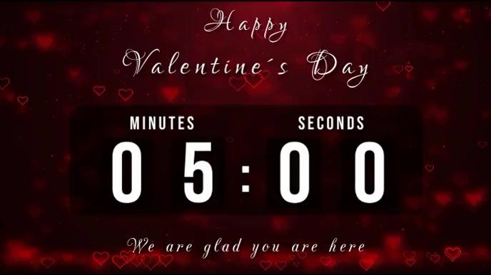 valentines day countdown Digitalt display (16:9) template