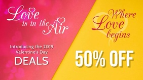 Valentines Day Deal Digital Display Template