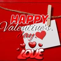valentines day Instagram 帖子 template