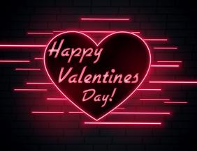 VALENTINES DAY Рекламная листовка (US Letter) template