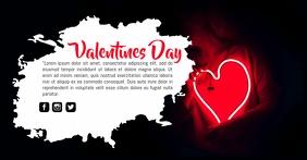Valentines Day Obraz udostępniany na Facebooku template