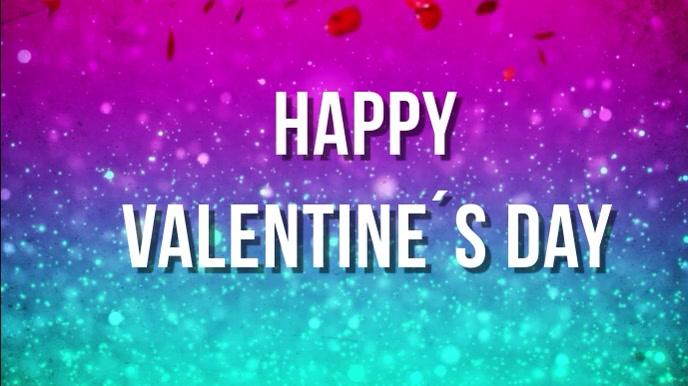 valentines day Digitalt display (16:9) template