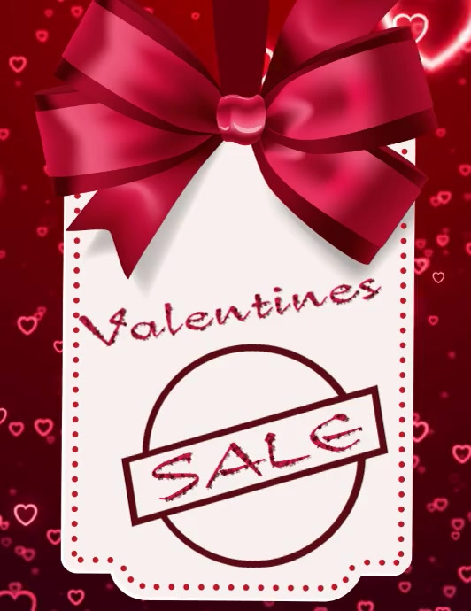 Valentines Day Løbeseddel (US Letter) template