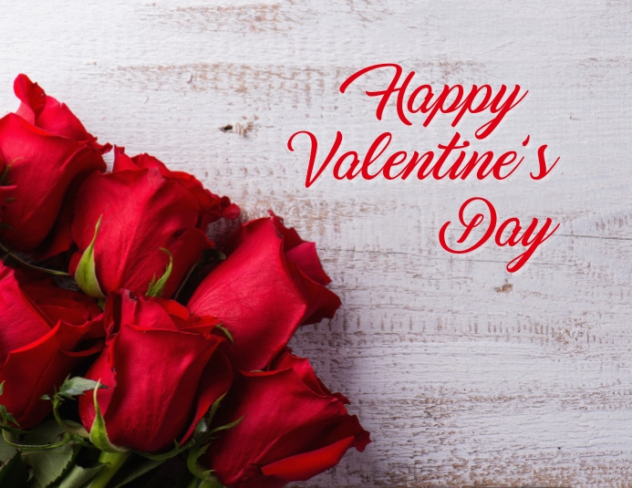 Valentines Day Pamflet (Letter AS) template
