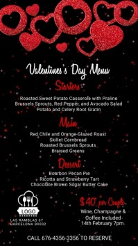 Valentines Day Digital Menu Template