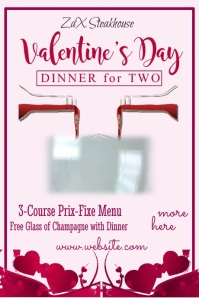 Valentines Day Dinner 4-2 Poster Template