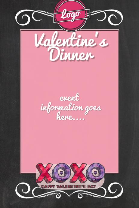 Valentines Day dinner dance fundraiser sale menu love