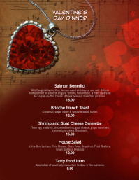 valentines day dinner menu template