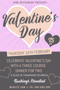 Valentines Day Dinner Poster