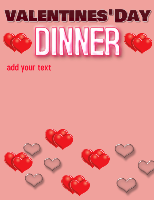 valentines day dinner template postermywall