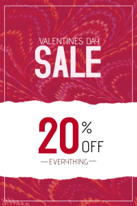 valentines day discount sale poster