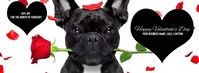 Valentines Day Dog Roses Cover Ad Foto Sampul Facebook template
