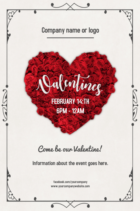 Valentines Day Event Flyer Poster Template Postermywall