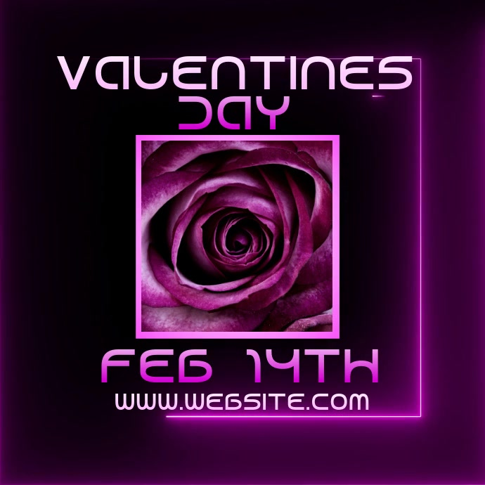 valentines day event ad digital video Logo template