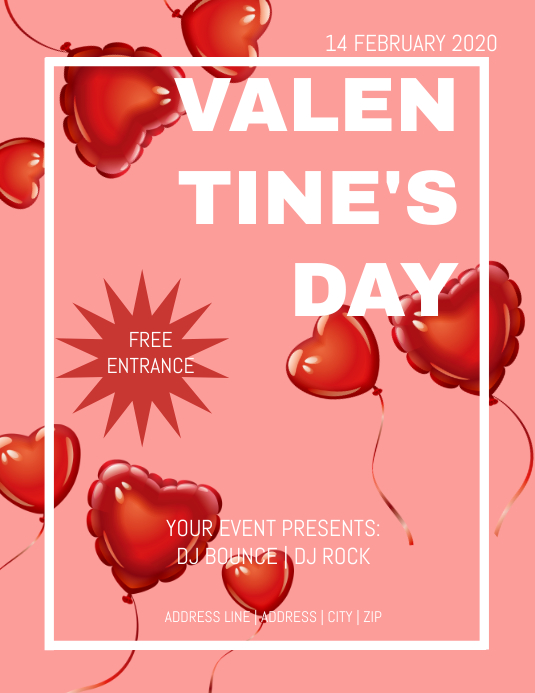 Valentines Day Event Flyer
