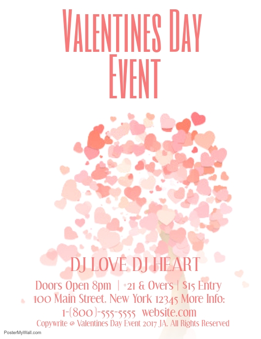 Valentines Day Event Template Postermywall