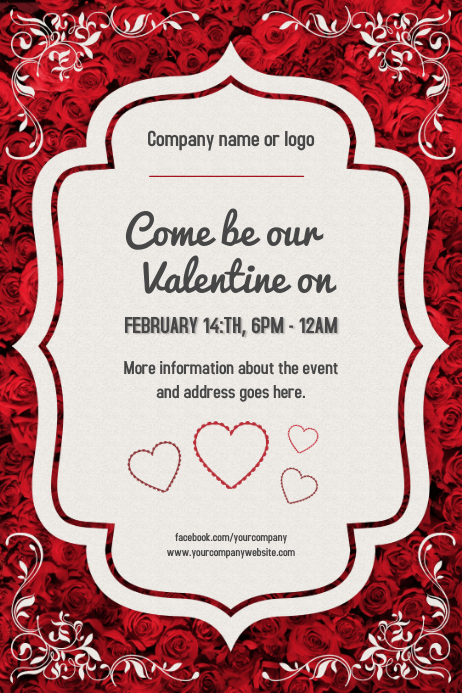 Valentines Day Event Poster Template Postermywall