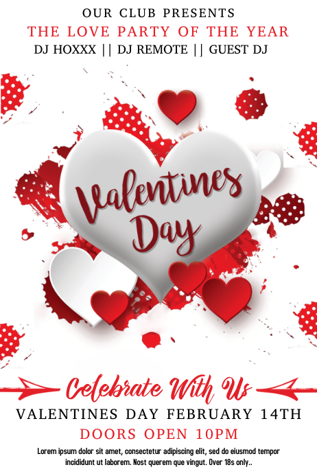 Valentines Day Event Poster Template