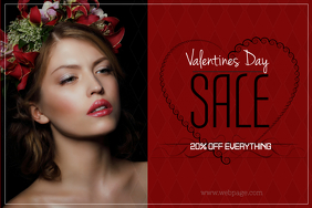 valentines day fashion landscape sale poster template