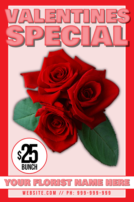 Valentines Day Florist Poster