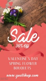 Valentines Day Flower Sale Video Template