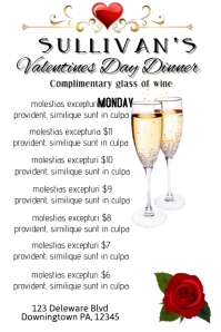 2 980 Customizable Design Templates For Valentine Dinner Postermywall