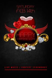 Valentine`s Day Flyer template